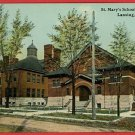 LANSING MICHIGAN MI ST MARY'S SCHOOL CHURCH POSTCARD