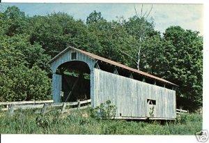 DECATURVILLE OH OHIO COVERED BRIDGE 1964  POSTCARD