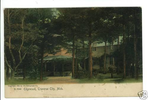 TRAVERSE CITY MI MICHIGAN EDGEWOOD 1905 POSTCARD