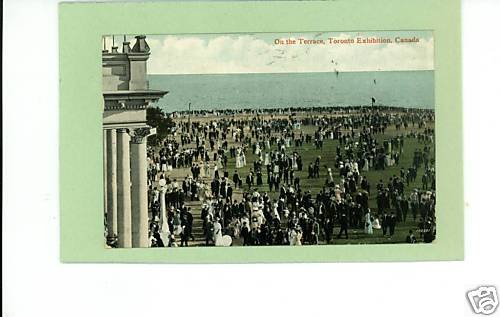 TORONTO EXHIBITION CANADA TERRACE 1911 POSTCARD