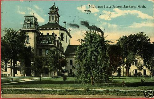 JACKSON MICHIGAN STATE PRISON JAIL PEN  1912  POSTCARD