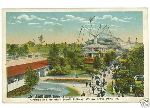 WILLOW GROVE PARK PENNSYLVANIA PA AIRSHIPS  POSTCARD