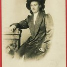 RPPC WOMAN FUR COAT HAT RP POSTCARD MN MINNESOTA