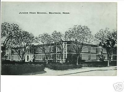 BEATRICE NEBRASKA NE  JUNIOR HIGH SCHOOL  POSTCARD