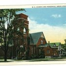 GREEN SPRINGS OHIO OH M.E. CHURCH  FREY  POSTCARD