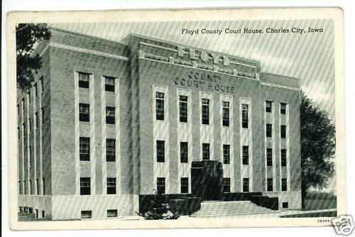 CHARLES CITY IA IOWA FLOYD COUNTY COURT HOUSE POSTCARD