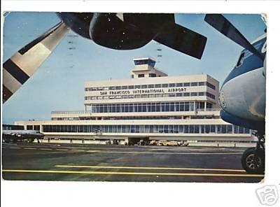 SAN FRANCISCO CA INTERNATIONAL AIRPORT 1957 POSTCARD