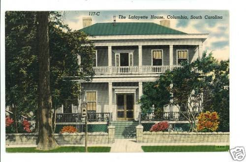 COLUMBIA SC THE LAFAYETTE HOUSE CIGAR/TOBACCO  POSTCARD