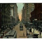 CHICAGO IL ILLINOIS DEARBORN STREET CAR 1913 POSTCARD