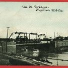 ALPENA MICHIGAN MI 9TH STREET BRIDGE 1911 POSTCARD