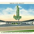 ROCKINGHAM NC NORTH CAROLINA  EL DORADO MOTEL  POSTCARD