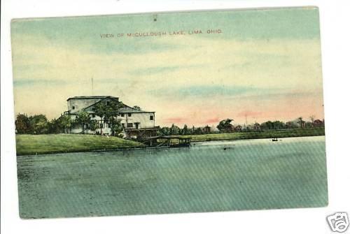 LIMA OHIO OH MCCULLOUGH LAKE 1909 POSTCARD