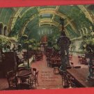 MILWAUKEE WI SCHLITZ PALM GARDEN INTERIOR  POSTCARD