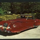 1939 DELAHAYE ROADSTER SILVER SPRINGS FL 1975 POSTCARD
