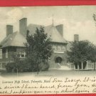 FALMOUTH MA MASSACHUSETTS LAWRENCE HIGH SCHOOL POSTCARD