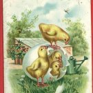 TUCK EASTER CHICKS SPRINKLING CAN  EGG POSTCARD