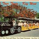 KEY WEST FLORIDA CONCH TOUR TRAIN POSTCARD 1967