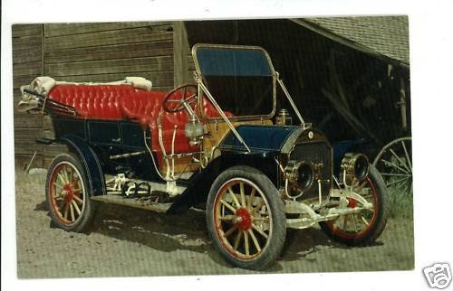 1909 STODDARD-DAYTON CAR PENNZOIL ADVERTISING  POSTCARD