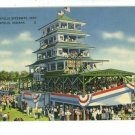 INDIANAPOLIS SPEEDWAY INDIANA 1937 GRANDSTAND  POSTCARD