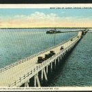TAMPA FLORIDA FL GANDY BRIDGE WEST END 1925  POSTCARD