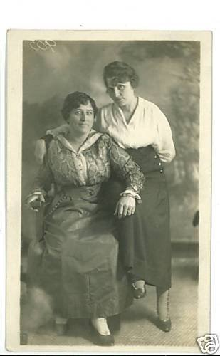RPPC TWO WOMEN SKIRTS  BUTTON TOP SHOES RP POSTCARD