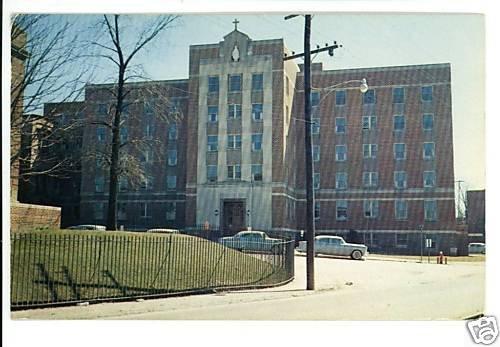 BAY CITY MI MICHIGAN MERCY HOSPITAL 1963 POSTCARD