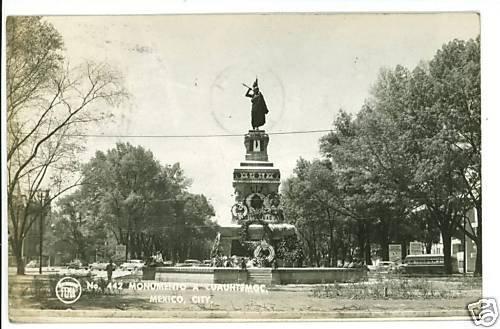 RPPC MONUMENTO CUAUHTEMOC MEXICO CITY FEMA   POSTCARD