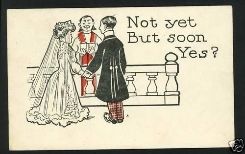 WEDDING MARRIAGE PROPOSAL NOT YET BUT SOON '07 POSTCARD