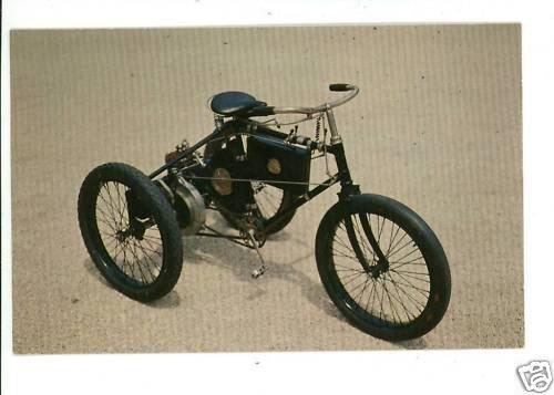 1896 DeDION BOUTON TRICYCLE LONG ISLAND AUTO  POSTCARD