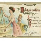 VALENTINE WOMAN LOOKING IN MIRROR WESSLER POSTCARD