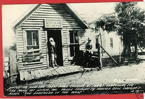 RPPC NOTCH MISSOURI POST OFFICE UNCLE IKE RP POSTCARD
