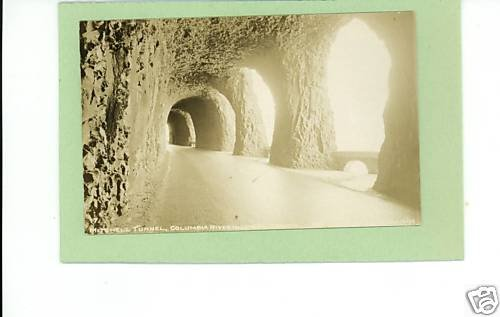 RPPC MITCHELL TUNNEL  COLUMBIA RIVER HIGHWAY POSTCARD