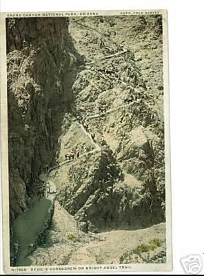 GRAND CANYON ARIZONA AZ  FRED HARVEY DET PUB CORKSCREW