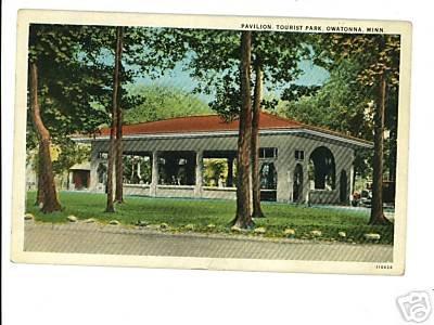 Owatonna MN Minnesota Pavilion Tourist Park  Postcard