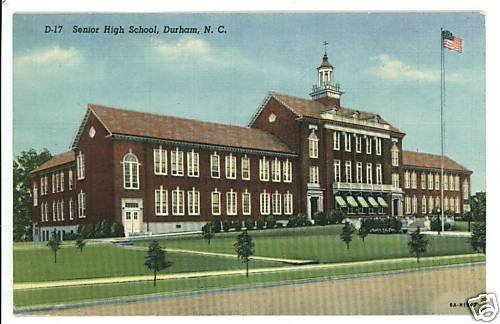 DURHAM NC SENIOR HIGH SCHOOL 1951 N CAROLINA  POSTCARD