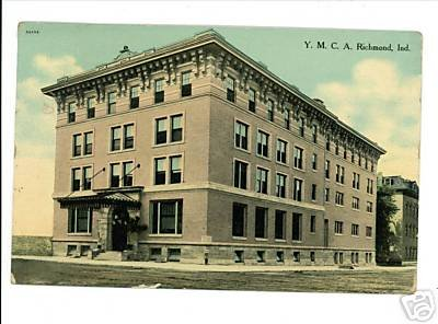RICHMOND INDIANA IN Y.M.C.A. BUILDING 1910 POSTCARD
