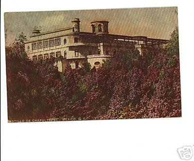 Castillo De Chapultepec, Mexico D.F. Postcard 1949