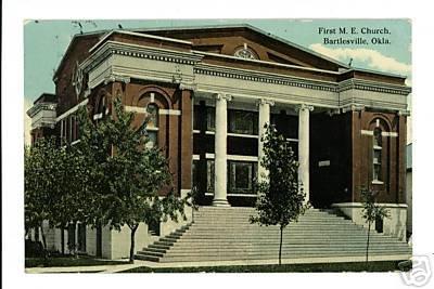 Bartlesville OK OKLAHOMA First ME Church 1912 Postcard
