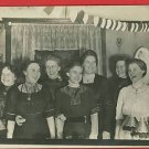 RPPC WOMEN LAUGHING PARTY LAMPS HEARTS LACE  POSTCARD