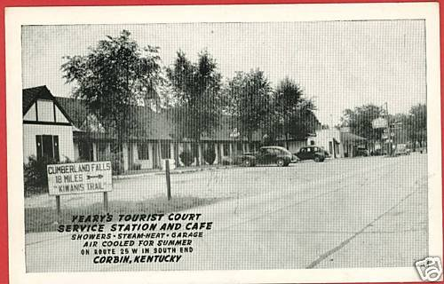 CORBIN KENTUCKY YEARY'S TOURIST CT GAS STATION POSTCARD
