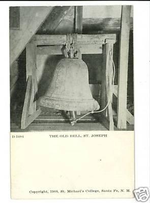 SANTA FE NEW MEXICO NM OLD BELL ST JOSEPH 1908 POSTCARD