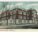 MUNCIE INDIANA IN  - HIGH SCHOOL 1918  POSTCARD