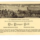 WASHINGTON PA PIONEER GRILL WASHINGTON HOTEL  POSTCARD