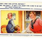 BAMFORTH COMIC POST THIS LETTER TAYLOR VINTAGE POSTCARD