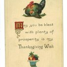 THANKSGIVING TURKEY CORNUCOPIA S BERGMAN 1912  POSTCARD