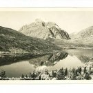 TWO MEDICINE LAKE MONTANA MT  LOOKING GLASS RPPC MARBLE