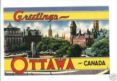 OTTAWA CANADA GREETINGS LARGE LETTER 1951 POSTCARD