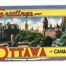 OTTAWA CANADA GREETINGS LARGE LETTER 1951 POSTCARD