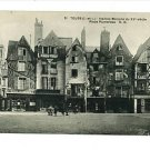 TOURS FRANCE MAISONS PLACE PLUMEREAU EPICERIE POSTCARD