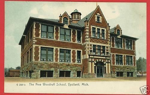 YPSILANTI MICHIGAN MI NEW WOODRUFF SCHOOL 1911 POSTCARD
